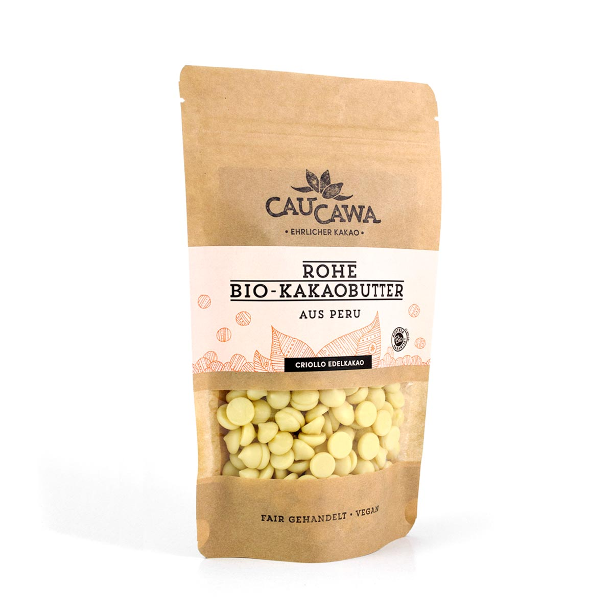 BIO Kakaobutter aus Peru – roh – 150g