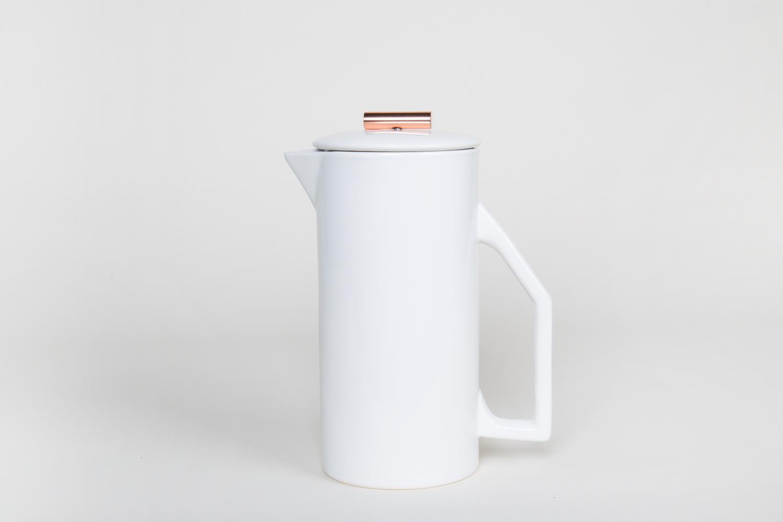 French Press – Ceramic Weiss – 850ml