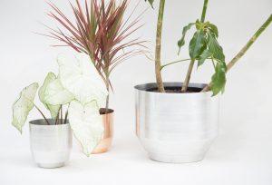 Alu Blumentöpfe für Zuhause