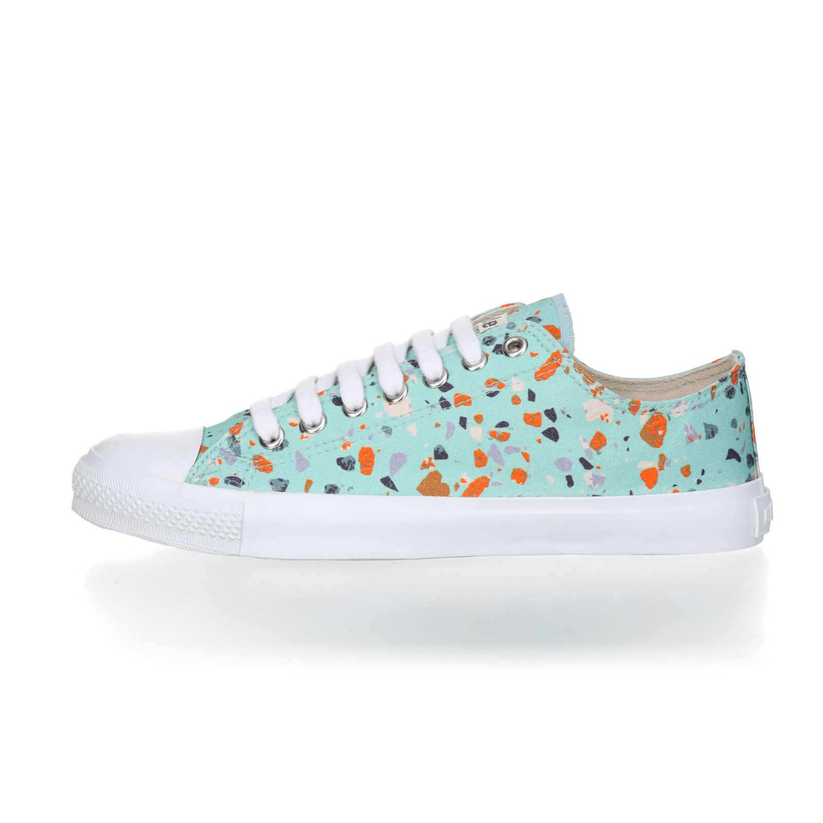 FAIR TRAINER White LoCut 18 | Terrazzo Spearmint