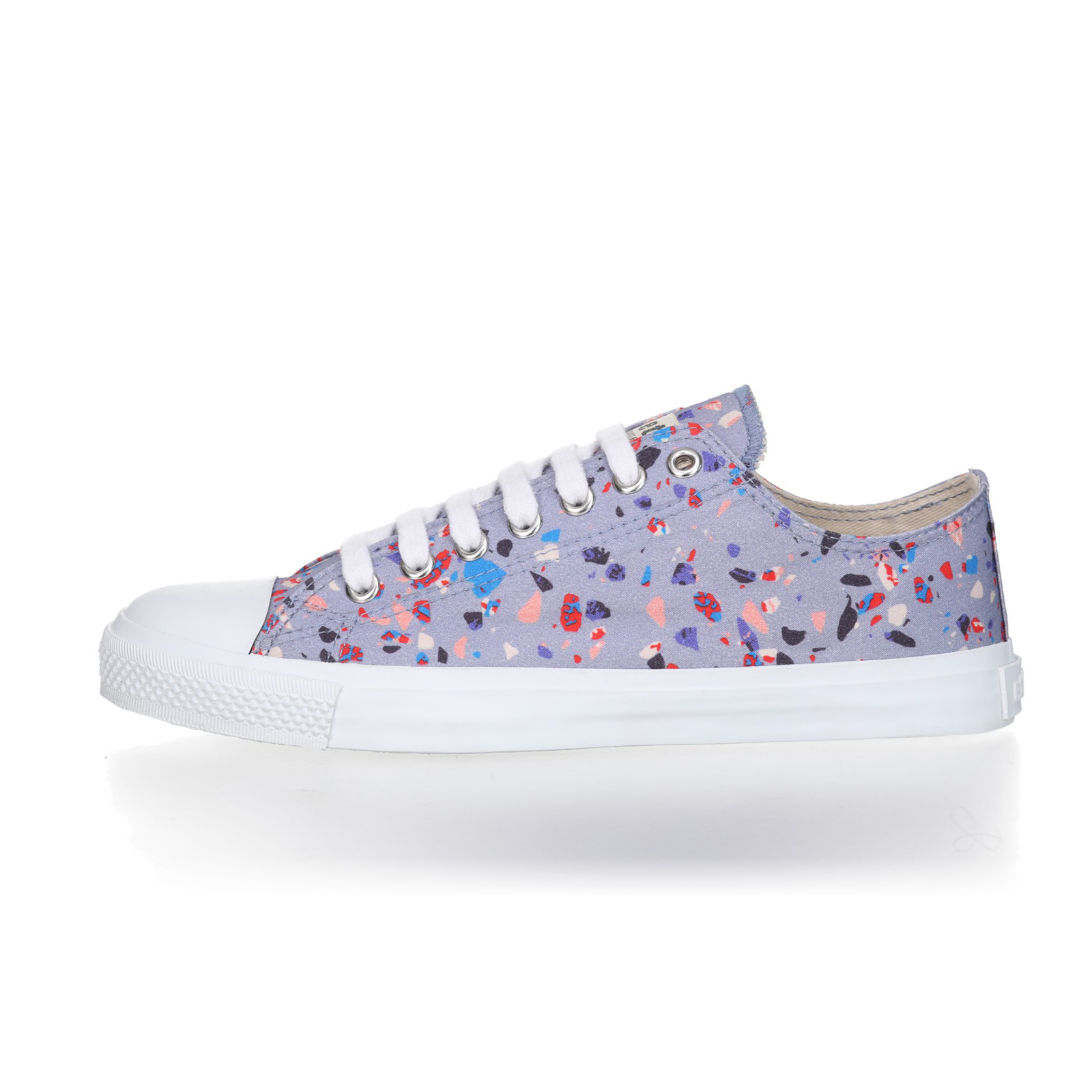 FAIR TRAINER White LoCut 18 | Terrazzo Blueberry