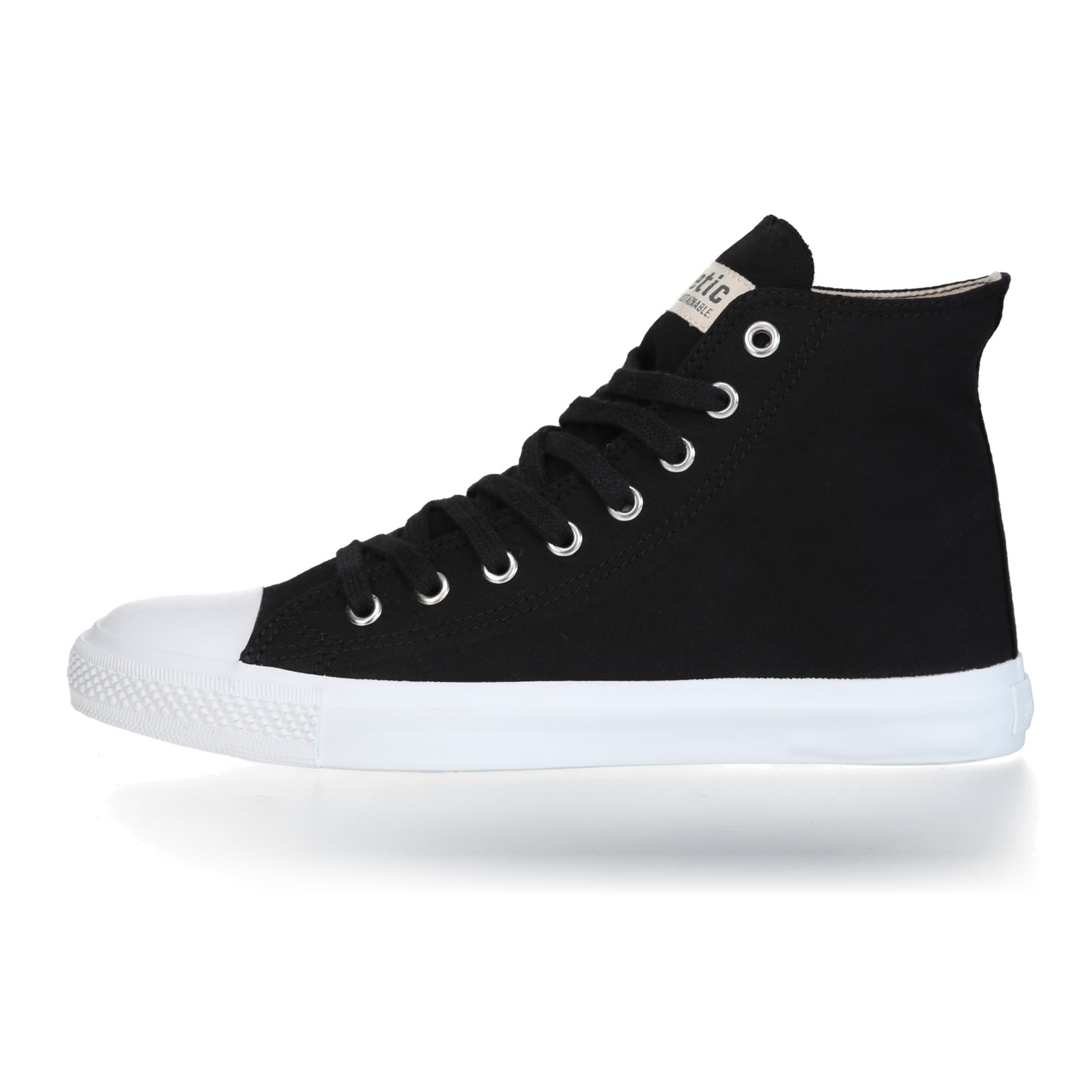 FAIR TRAINER White HiCut 18 | Jet Black