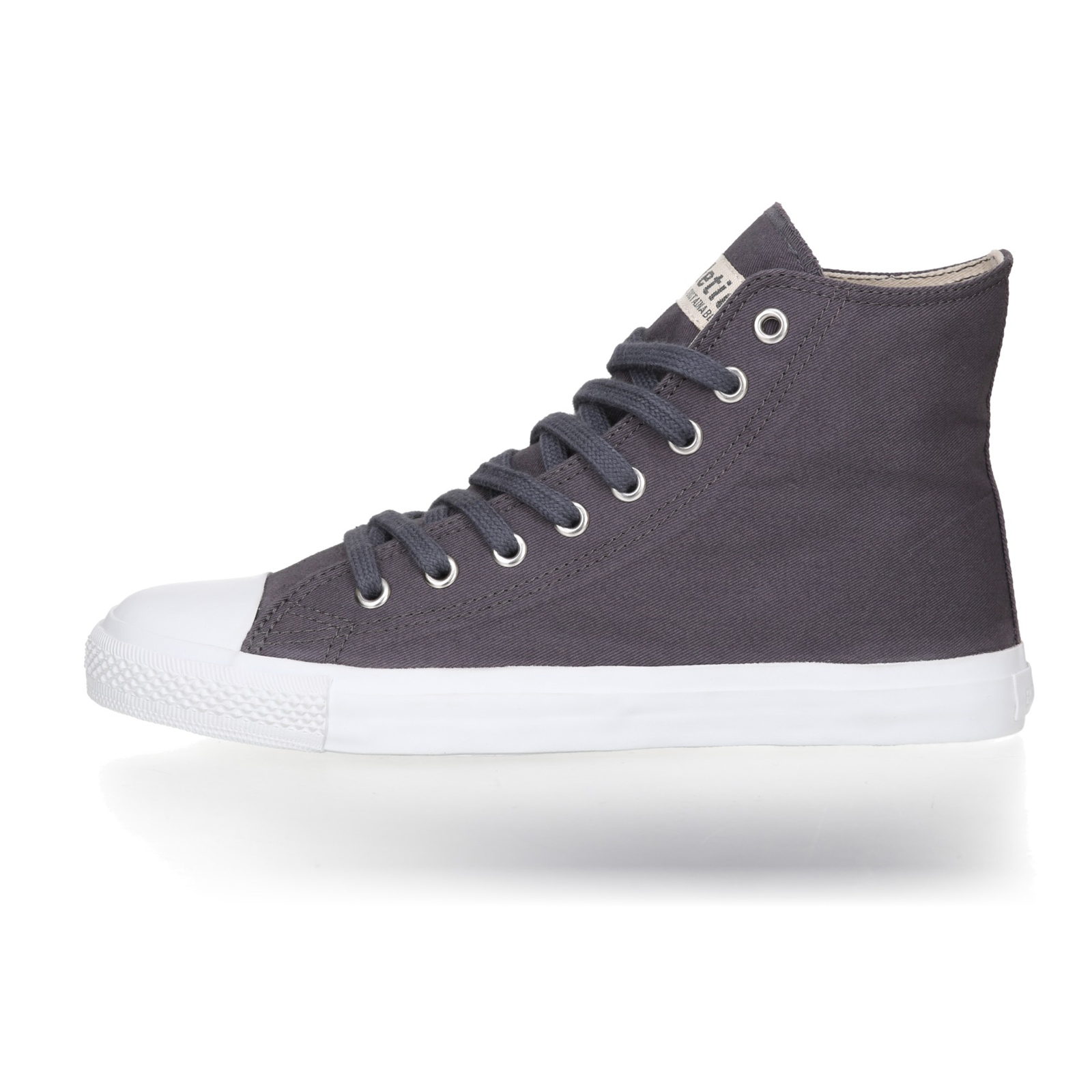 FAIR TRAINER White HiCut 18 | Pewter Grey