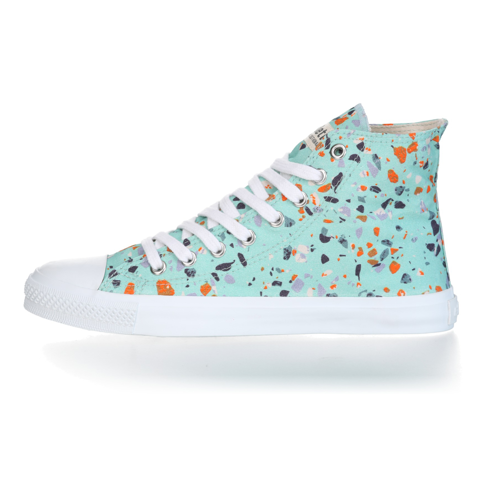 FAIR TRAINER White HiCut 18 | Terrazzo Spearmint