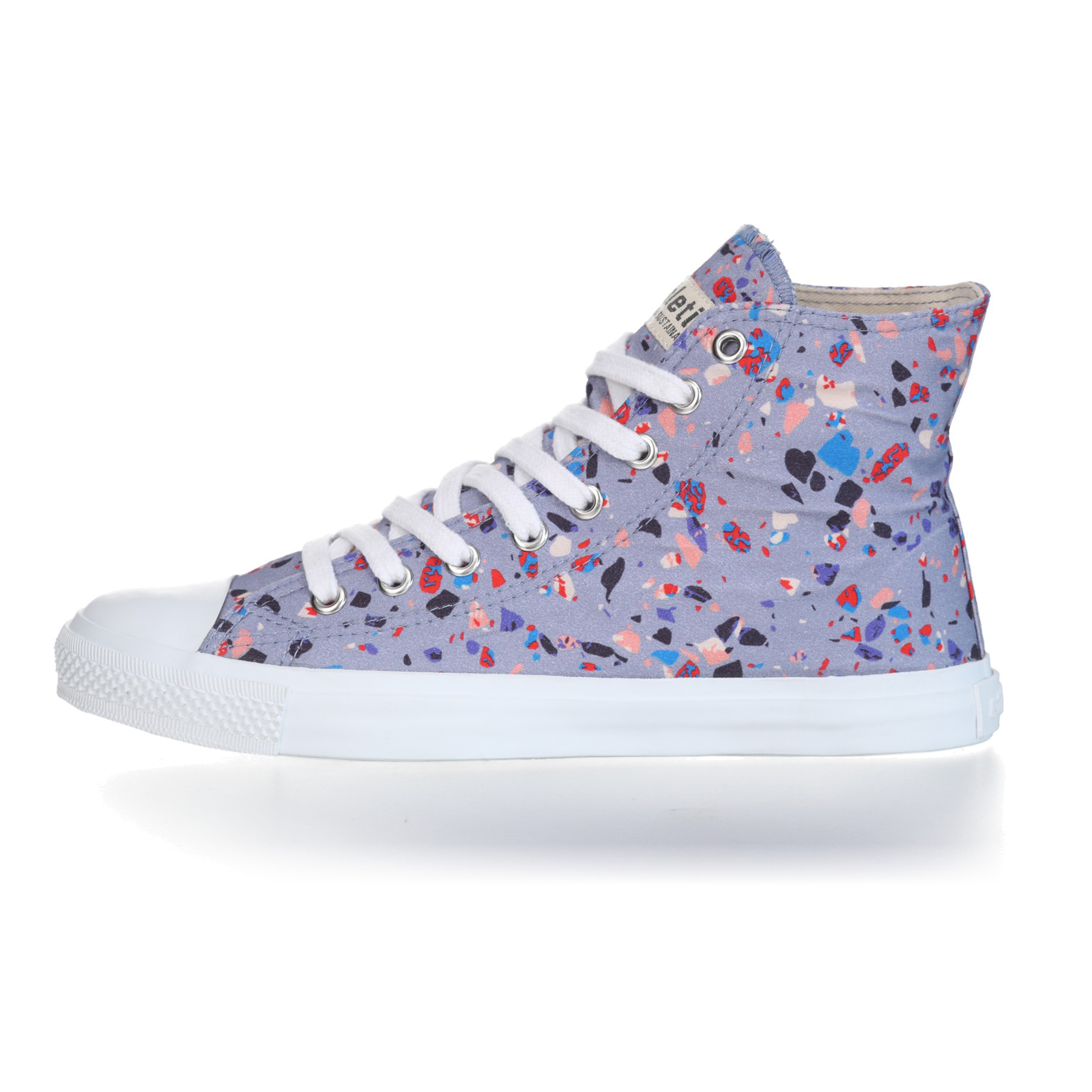 FAIR TRAINER White HiCut 18 | Terrazzo Blueberry