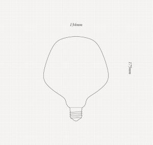 Enno Porzellan | LED GLÜHBIRNE Skizze