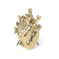 VASE HEART GOLD